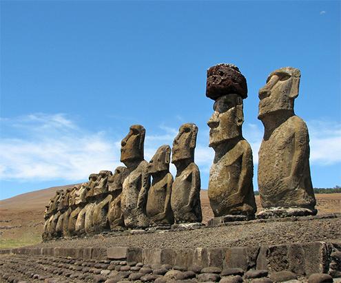 inscripciones rapanui moais isla de pascua easter island esculturas historia altura peso plataforma 495