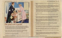 """""""კარგი ცოლის სახელმძღვანელო"""" აშშ. 1955 წელი"""